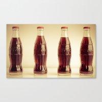 Four bottles Canvas Print
