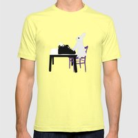 A Bunny's Life  Mens Fitted Tee Lemon SMALL