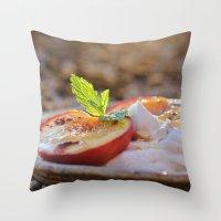Cinnamon Baked Nectarines Throw Pillow