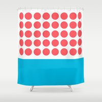 Forty Red Dots Over The … Shower Curtain