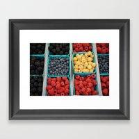 organic fruit Framed Art Print
