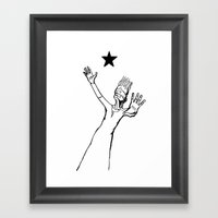 Lazarus 3 - Bowie Blackstar tribute Framed Art Print