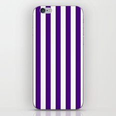 Vertical Stripes (Indigo/White) iPhone & iPod Skin