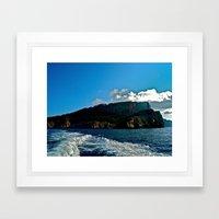 Lighthouse: Amalfi Coast, Italy Framed Art Print