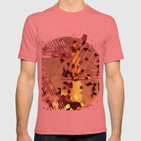 Polygons of a Photograph Mens Fitted Tee Pomegranate SMALL