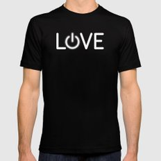 Love is Power Mens Fitted Tee Black SMALL