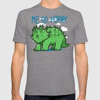 me so Horny Mens Fitted Tee Tri-Grey SMALL