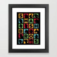 All Stars! - Silhouette Framed Art Print