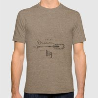Dream big Mens Fitted Tee Tri-Coffee SMALL