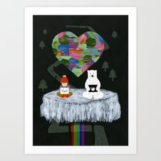 yes yes paw Art Print