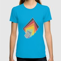 Colour Papers 1 Womens Fitted Tee Teal SMALL