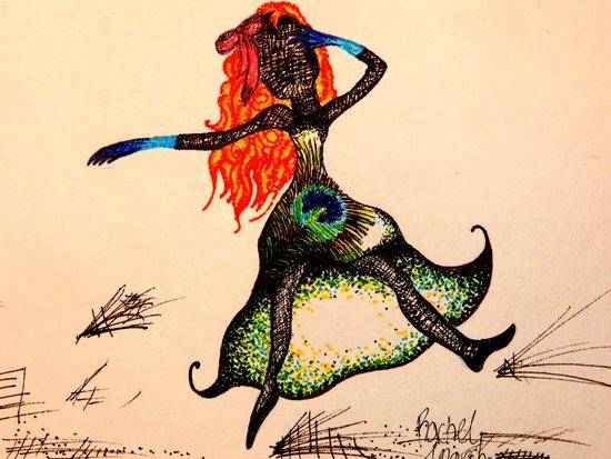 Peacock Princess Art Print