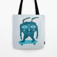 Skater Bunny Tote Bag