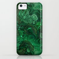 iPhone 5c Cases featuring malachite by ravynka