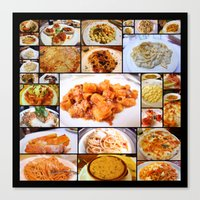 Food Of Italy Canvas Print