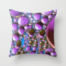 Green Purple and Blue Throw Pillow