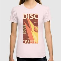Vintage Space Poster Ser… Womens Fitted Tee Light Pink SMALL
