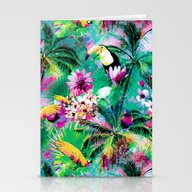 Exotic Vegetation Stationery Cards