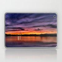 Sun dusk over Boston College Laptop & iPad Skin