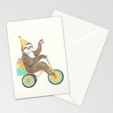 birthday sloth Stationery Cards