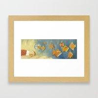 Clovis sleeping with fish Framed Art Print