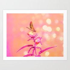 Little Dragonfly In A Wo… Art Print
