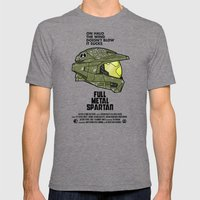 Full Metal Spartan Mens Fitted Tee Tri-Grey SMALL
