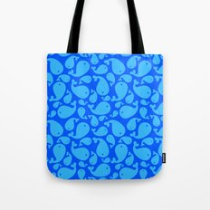 Blue whale pattern Tote Bag