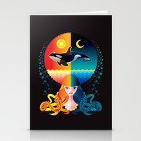 Dream - Sea Day & Night Stationery Cards