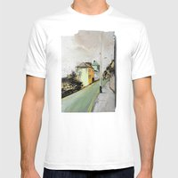 Meanwhile.. Landscape I Mens Fitted Tee White SMALL