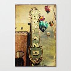 Whimsical Portland Oregon (Hot Air Balloon Ride) Canvas Print