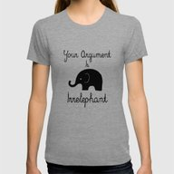 Your Argument Is Irrelep… Womens Fitted Tee Tri-Grey SMALL