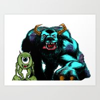 Mike & Sully... Art Print