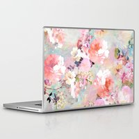 watercolor Laptop & iPad Skins featuring Love of a Flower by Girly Trend