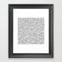 Abstraction Linear Inverted Framed Art Print
