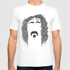 Frank Zappa Mens Fitted Tee White SMALL