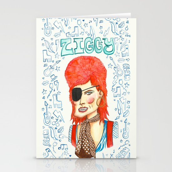 Ziggy Stardust. Stationery Card
