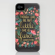 Little & Fierce On Charc… iPhone (4, 4s) Slim Case