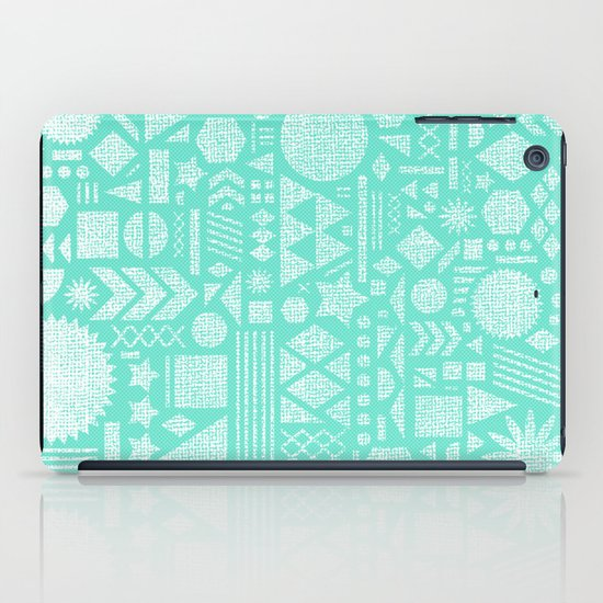 Modern Elements with Turquoise iPad Case