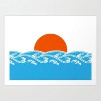 Japanese Tsunami  Art Print