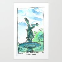 Angel of the waters - Central Park, New York Art Print