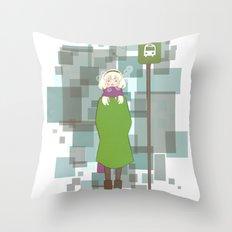 Waiting Throw Pillow