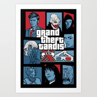 Grand Theft Tardis Ten Art Print
