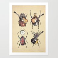 Meet The Beetles Art Print