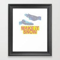 Make It Snow Framed Art Print