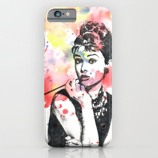 Audrey Hepburn Painting iPhone & iPod Case