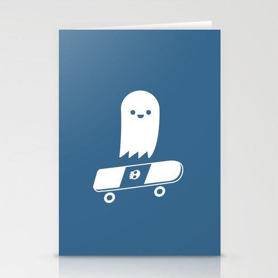 Skate Ghost Stationery Card