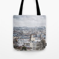 Snowy Paris Tote Bag