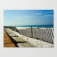 Rippling Fence Canvas Print