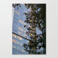 Urban Leaves Canvas Print
